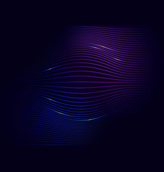 dark blue violet neon abstract digital wave vector image