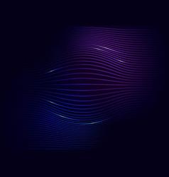 dark blue violet neon abstract digital wave vector image