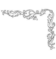 decorative corner ornament vector image