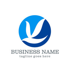 Dove bird business logo design vector