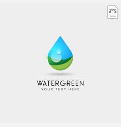 Drop water or green water logo template vector