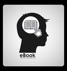 E-book concept design vector