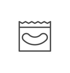 eyelash extension patch line icon vector image