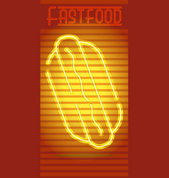 Fast food neon sign vector