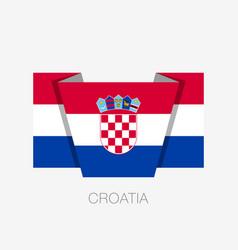 Flag of croatia flat icon waving flag with vector