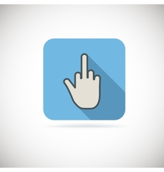 Flat finger up icon vector