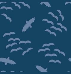 flock birds in sky seamless pattern vector image