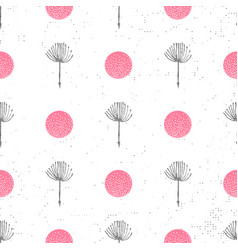 floral background seamless pattern black and white vector image
