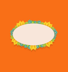 Frame of spring flower art vector