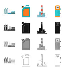 gasoline equipment machinery and other web icon vector image