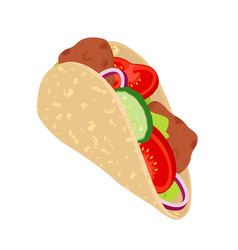 gyros - traditional greece food shawarma vector image
