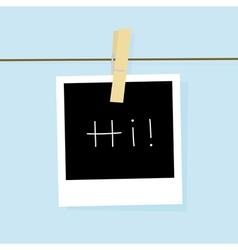 Hi card vector image