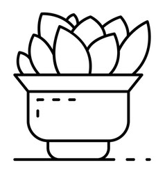 home cactus pot icon outline style vector image