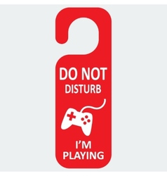 hotel tag do not disturb with playing icon vector image