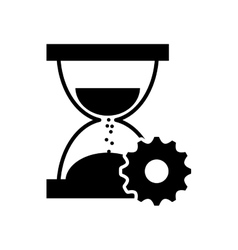 hourglass and gear icon vector image