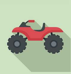 hunter quad bike icon flat style vector image