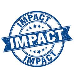 Impact round grunge ribbon stamp vector