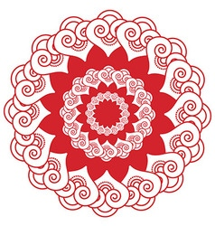 Indian henna tatto inspired flower shape with vector