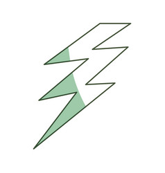 Isolated electric thunder vector