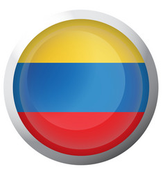 isolated flag of colombia vector image