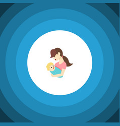 Isolated nanny flat icon child element can vector