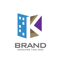 letter k real estate logo vector image