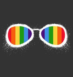Lgbt rights symbol gay parade sign vector