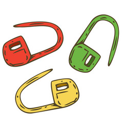 Locking stitch markers vector