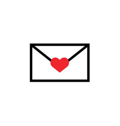 love letter icon design template isolated vector image
