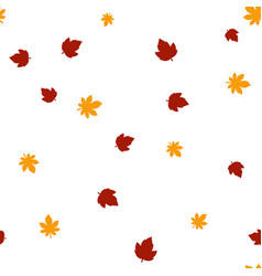 maple and chestnut leaves pattern seamless vector image