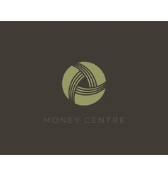Money symbol Wealth sign Financial logo design vector image