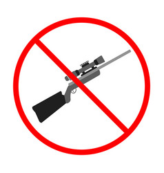 No gun sign and symbol weapon prohibited icon vector