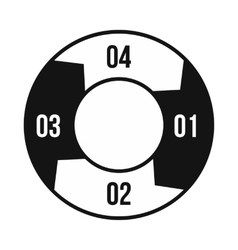 Pie chart with a hole in the center icon vector image