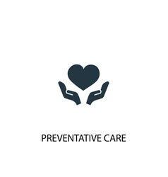 preventive care icon simple element vector image