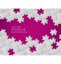 purple background made from white puzzle pieces vector image