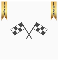 Racing flag flat icon vector