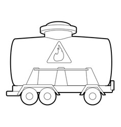 Railroad tank icon outline style vector