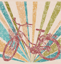 retro style of a bicycle with basket vector image