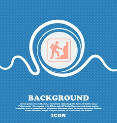 rock climbing sign Blue and white abstract vector image vector image