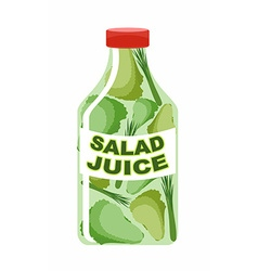 Salad juice Juice from fresh vegetables Lettuce in vector image