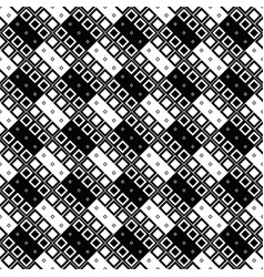 seamless black and white diagonal square pattern vector image