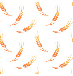 seamless pattern ears wheat vector image