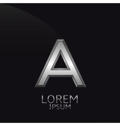 Silver A Letter emblem vector