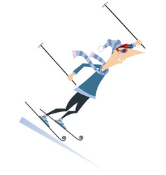 Skier man isolated vector