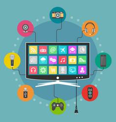 smart tv flat design vector image
