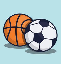 Soccer equipment design vector