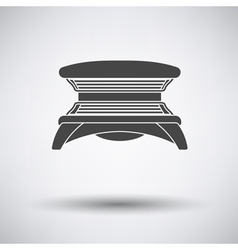 Solarium icon vector image