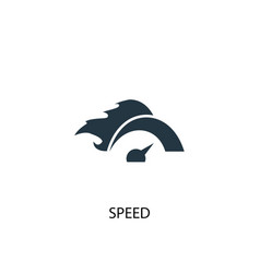 speed icon simple element speed vector image