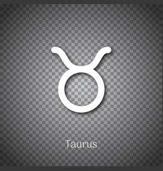 taurus astrological symbol with shadow vector image