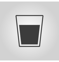 The glass icon Drink and water symbol Flat vector image